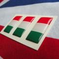 Kit 3 adesivi resinati con bandiera Italiana