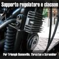 Supporto regolatore di tensione e clacson