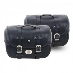 Set due borse in cuoio...