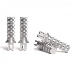 Set 4 pedane in alluminio...