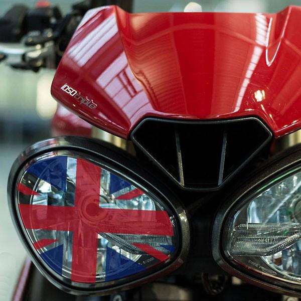 "Kit Adesivi Coprifanale Bandiera Inglese ""Union Jack"" Per Speed S/R E Street Triple 765"