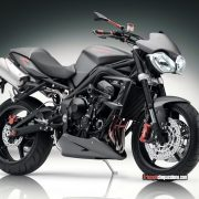 La Street Triple con i fanali Speed Triple 2011