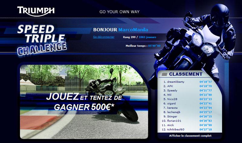 Il videogame gioco di Triumph con la nuova Speed Triple 2011