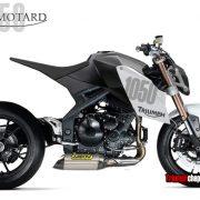 Speed Triple 1050 da Supermotard