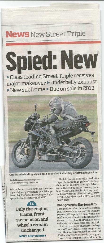 Street Triple 2013?