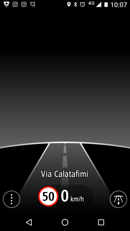 La schermata principale dell' App TomTom Autovelox