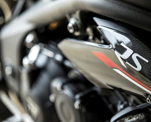 Triumph Speed Triple 2018 logo RS sul fianchetto