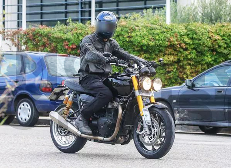 Triumph Speed Twin 1200, il frontale