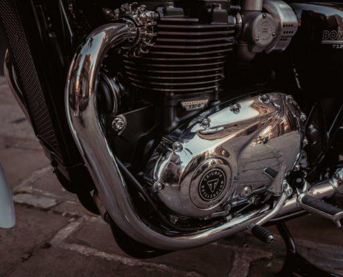Il motore della Triumph Bonneville T120 Diamond Edition