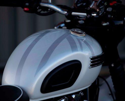 Il serbatoio della Triumph Bonneville T120 Diamond Edition