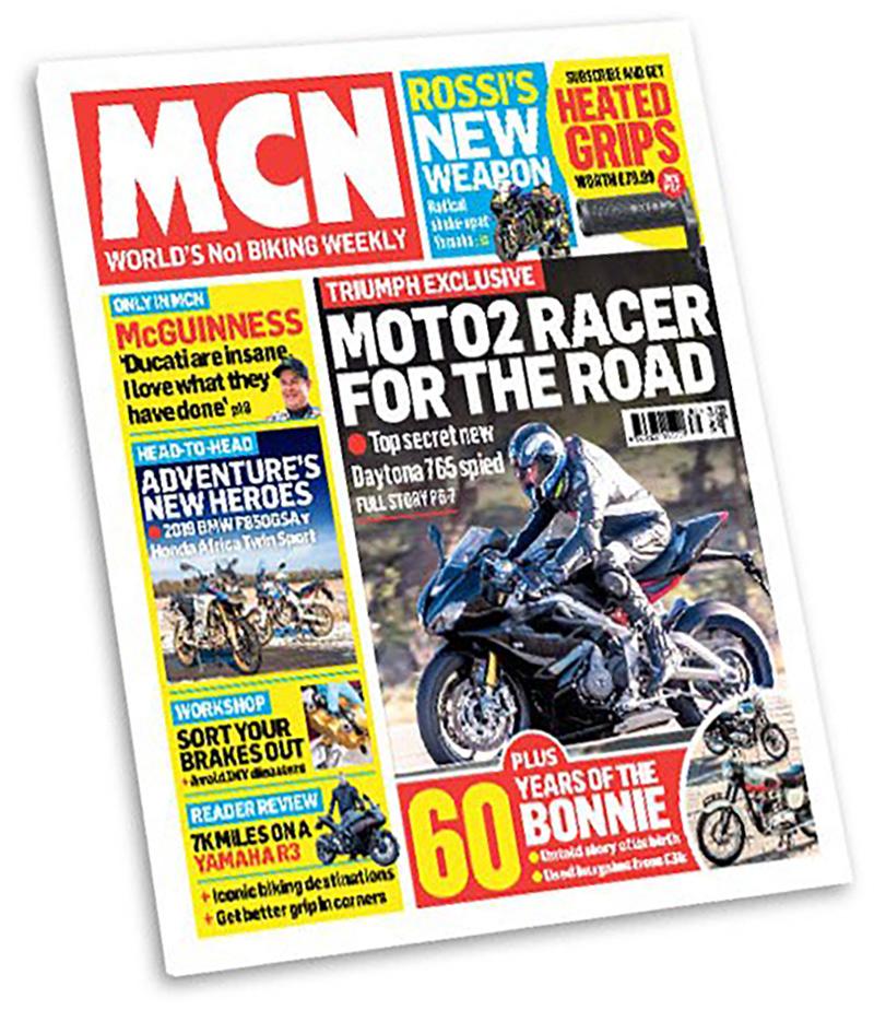 La copertina di MCN con la Daytona 765 Moto2