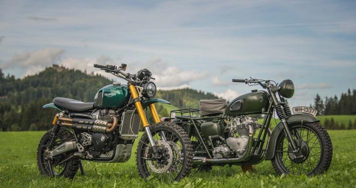 La Triumph Scrambler XE e la Tiger del '62