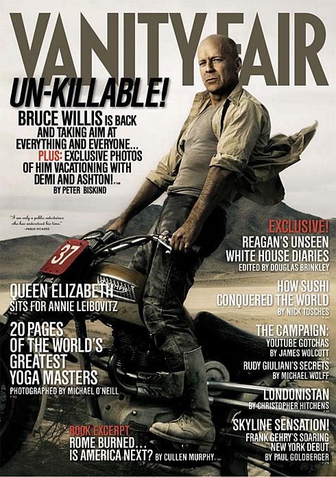 Foto di Bruce nella copertina di Vanity Fair